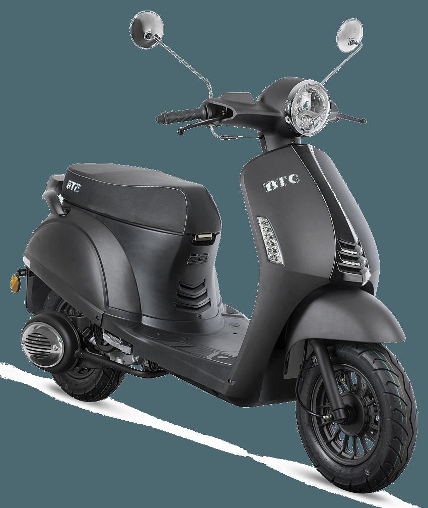 BTC Riva2 benzine scooter EURO4 – mat grijs