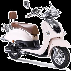 BTC Grande Retro scooter GT2 creme-wit