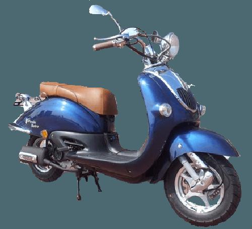 BTC Grande Retro scooter GT2 donkerblauw