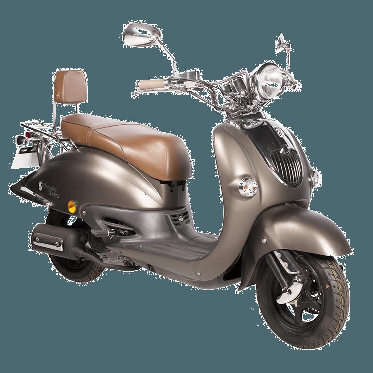 BTC Grande Retro scooter GT2 mat bruin
