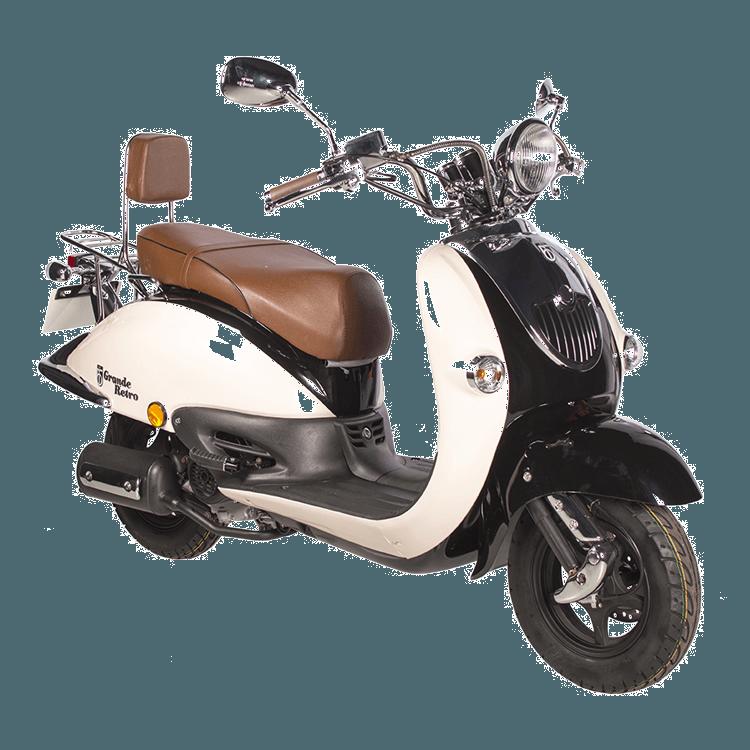 BTC Grande Retro scooter GT2 zwart-wit