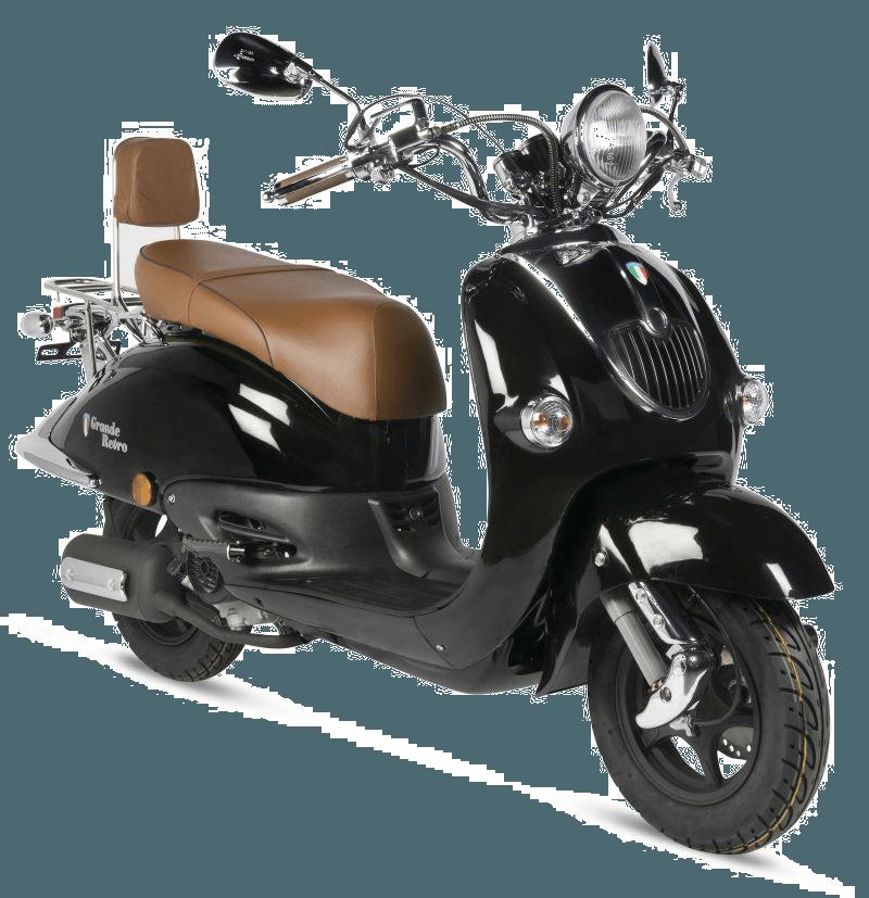 BTC Grande Retro scooter GT2 zwart