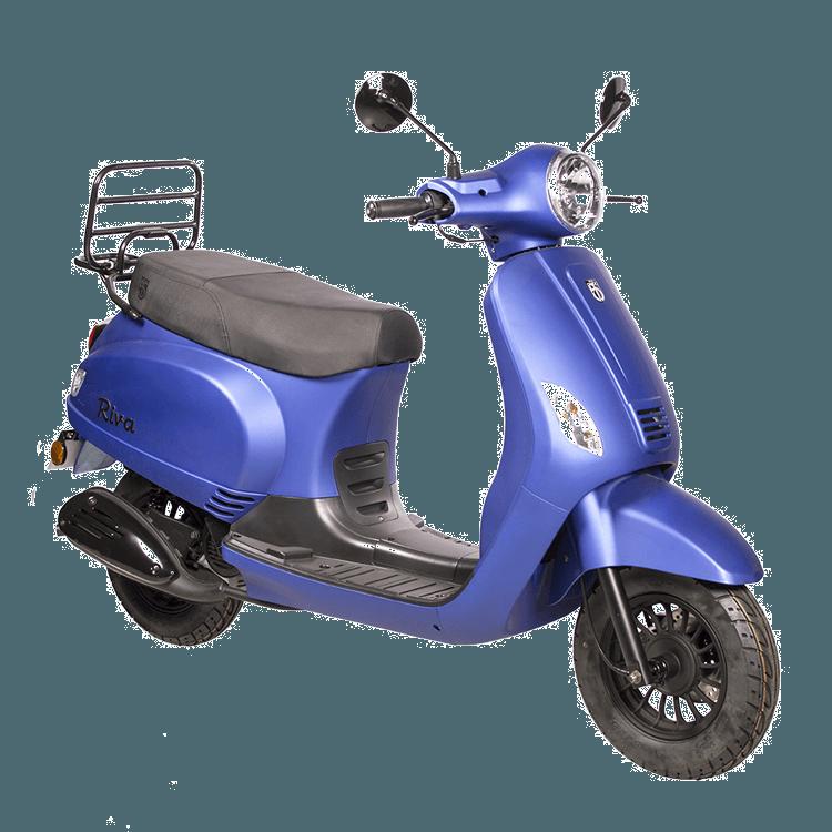 Riva scooter mat blauw