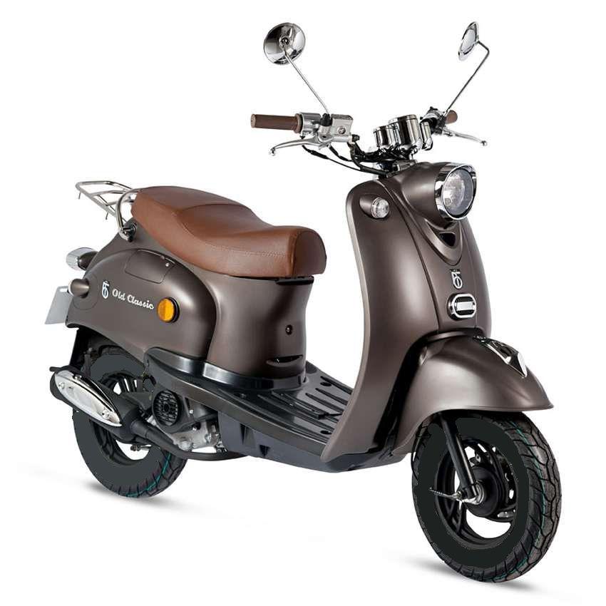 BTC scooter Old Classic mat_bruin std