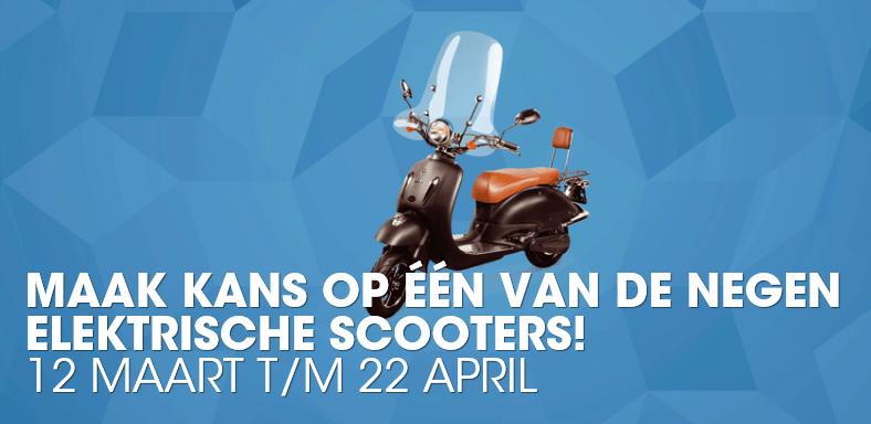 Win een elektrische scooter bij de Mystery Jackpot!