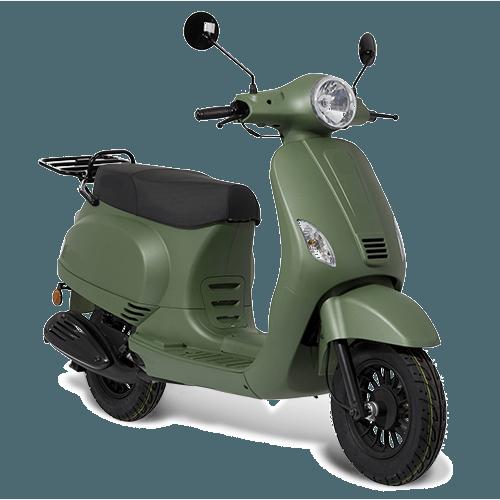 BTC Riva benzine scooter EURO4 – mat groen