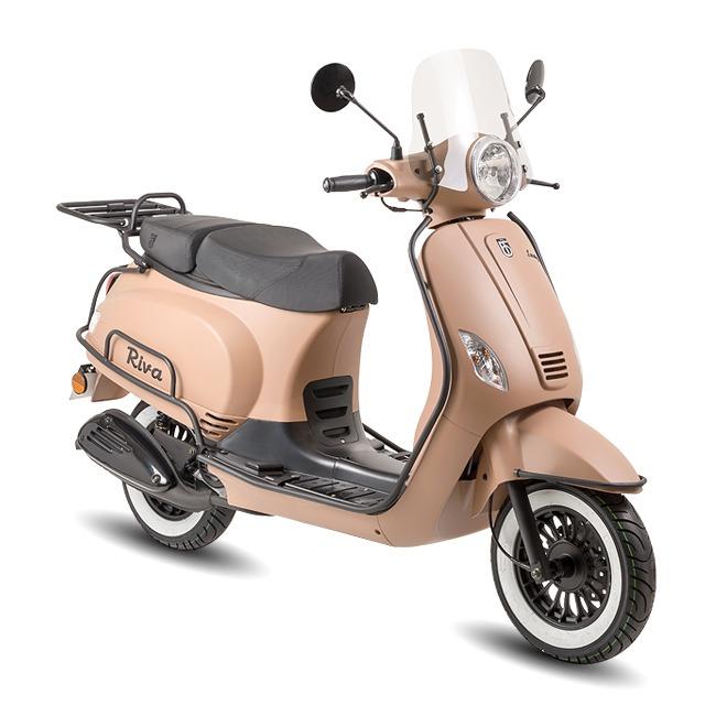 BTC Riva Luxury scooter EURO4 – mat cappuccino