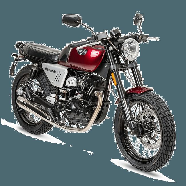 BTC Caféracer benzine scooter EURO4 – zwart-rood