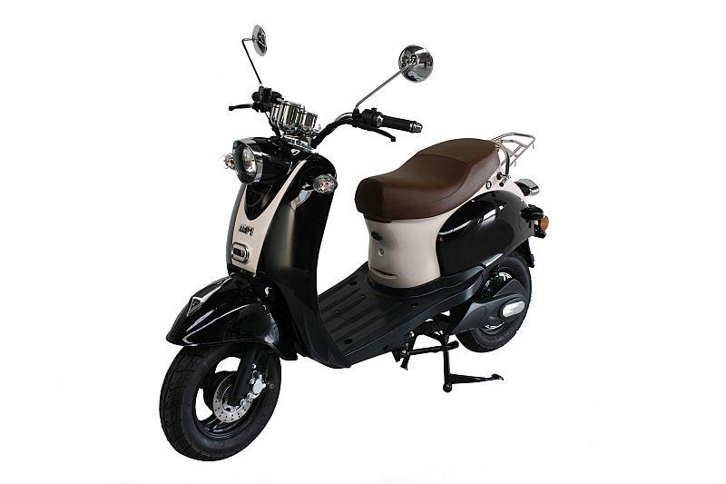 MPI Elektrische Classic Scooter – zwart-cremewit