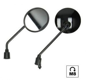 Riva spiegelset M8 glans zwart rond